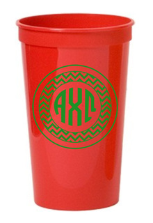 Alpha Chi Omega Monogrammed Giant Plastic Cup