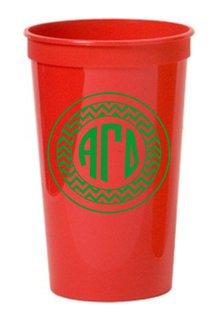 Alpha Gamma Delta Monogrammed Giant Plastic Cup