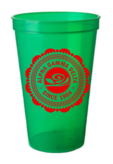 Alpha Gamma Delta Old Style Classic Giant Plastic Cup
