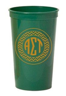Alpha Sigma Tau Monogrammed Giant Plastic Cup