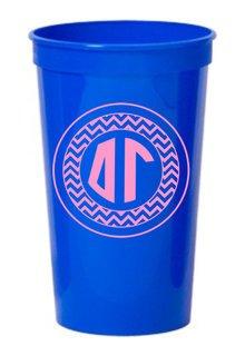Delta Gamma Monogrammed Giant Plastic Cup