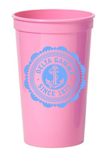 Delta Gamma Old Style Classic Giant Plastic Cup