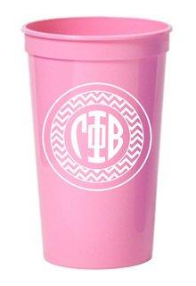 Gamma Phi Beta Monogrammed Giant Plastic Cup