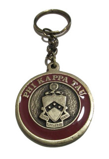 Phi Kappa Tau Metal Fraternity Key Chain
