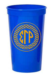Sigma Gamma Rho Monogrammed Giant Plastic Cup