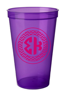 Sigma Kappa Monogrammed Giant Plastic Cup