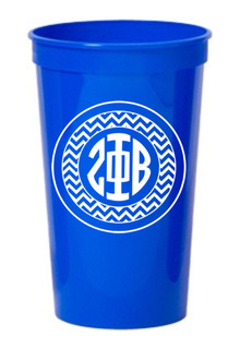 Zeta Phi Beta Monogrammed Giant Plastic Cup