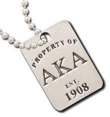 Alpha Kappa Alpha Property Of Tag Necklace