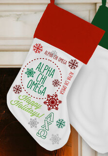 Alpha Chi Omega Christmas Stocking
