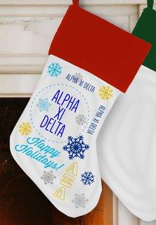Alpha Xi Delta Christmas Stocking