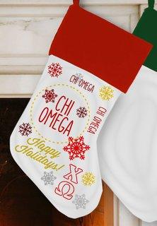 Chi Omega Christmas Stocking