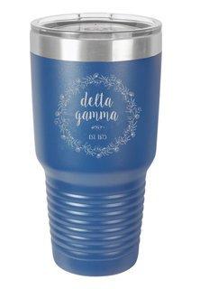 Delta Gamma Vacuum Insulated Floral Tumbler