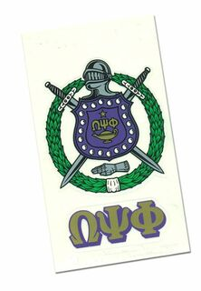 Omega Psi Phi Crest - Shield Decal