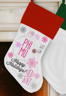 Phi Mu Christmas Stocking