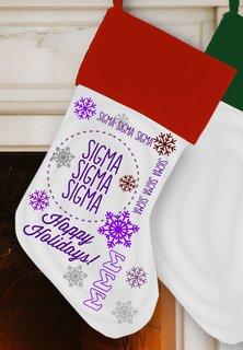 Sigma Sigma Sigma Christmas Stocking