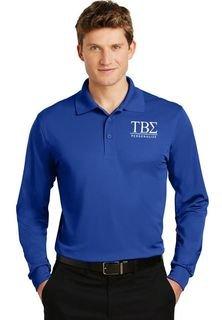 Tau Beta Sigma- $30 World Famous Long Sleeve Dry Fit Polo