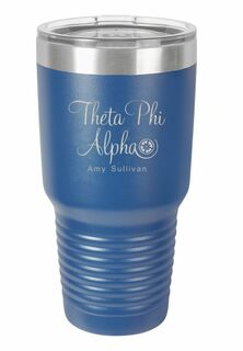 Theta Phi Alpha Vacuum Insulated Mascot Tumbler