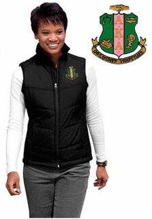Alpha Kappa Alpha Crest - Shield Patch Ladies Mission Puffy Vest