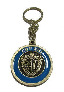 Chi Phi Metal Fraternity Key Chain