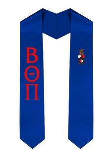 Beta Theta Pi Greek Lettered Graduation Sash Stole With Crest