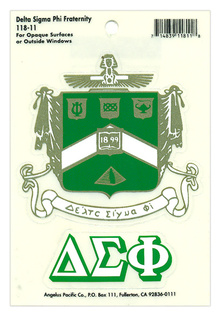 Delta Sigma Phi Water Slide Decal