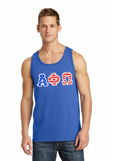 American Flag Greek Lettered Tank Top
