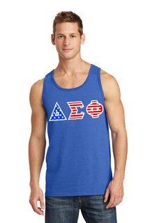 Delta Sigma Phi Greek Letter American Flag Tank