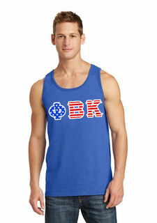 Phi Beta Kappa Greek Letter American Flag Tank