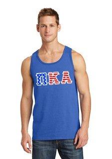 DISCOUNT-Pi Kappa Alpha Greek Letter American Flag Tank