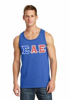DISCOUNT-Sigma Alpha Epsilon Greek Letter American Flag Tank