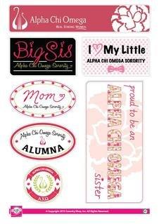Alpha Chi Omega Family Sticker Sheet