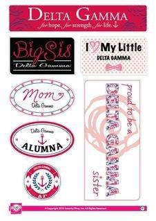 Delta Gamma Family Sticker Sheet