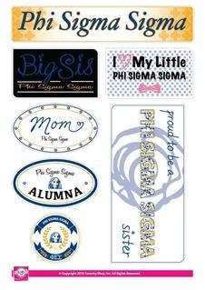 Phi Sigma Sigma Family Sticker Sheet