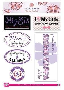 Sigma Kappa Family Sticker Sheet