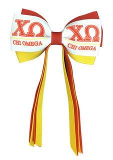 Chi Omega Streamer Bow