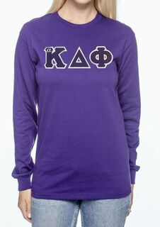 DISCOUNT alpha Kappa Delta Phi Lettered Long Sleeve Tee