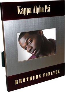 Kappa Alpha Psi Brush Silver Frame