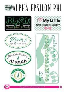 Alpha Epsilon Phi Family Sticker Sheet