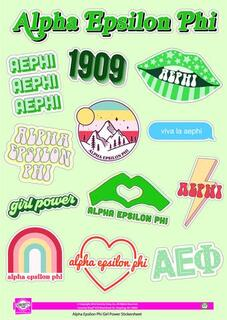 Alpha Epsilon Phi Girl Power Stickers