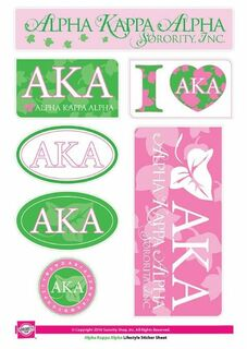 Alpha Kappa Alpha Lifestyle Stickers