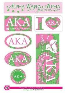Alpha Kappa Alpha Tie Dye Stickers