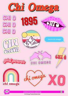 Chi Omega Girl Power Stickers