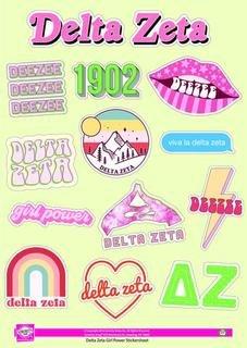 Delta Zeta Girl Power Stickers
