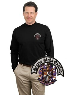 DISCOUNT-Fraternity & Sorority Greek Long Sleeve Mock Turtleneck