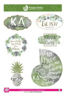 Kappa Delta Water Color Stickers