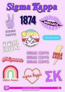 Sigma Kappa Girl Power Stickers