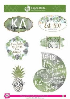 Sorority Water Color Stickers