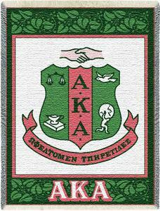 Alpha Kappa Alpha Ivy Shield Afghan Blanket