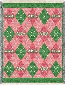 Alpha Kappa Alpha Argyle Plaid Blanket