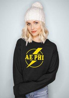 Alpha Epsilon Phi Lightning Crewneck Sweatshirt